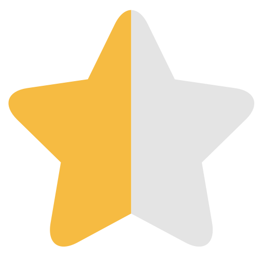 Half Star, Half, Half Light Icon Png And Vector For Free Download