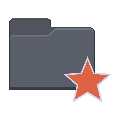 Star Folder Icon Flat Folder Iconset Pelfusion