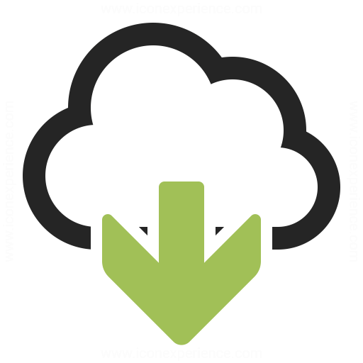 Cloud Download Icon Iconexperience