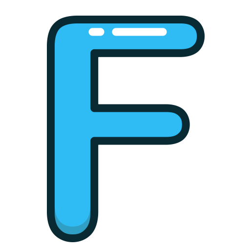 F, Facebook, Social Media, Bit Icon