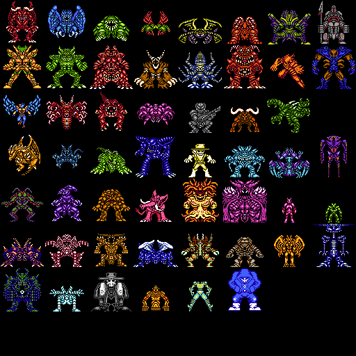 Bit Monster Sprite Pack