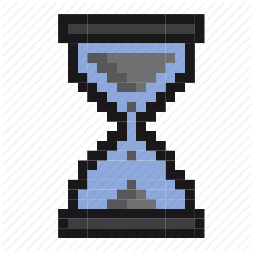 Clock, Hourglass, Pixel Art, Productivity, Sand, Time, Timer Icon
