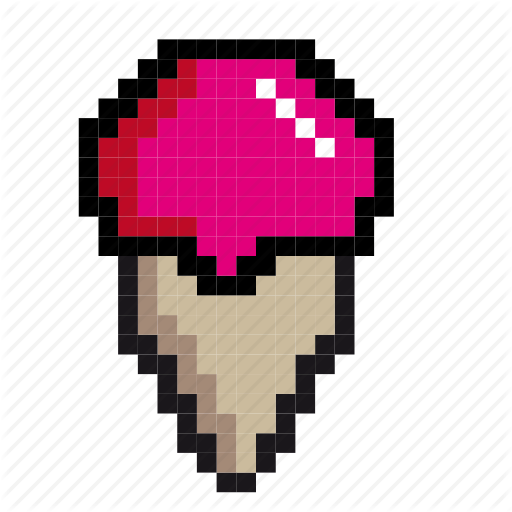 Desert, Food, Ice, Ice Cream, Pixel Art, Pixels, Yummy Icon