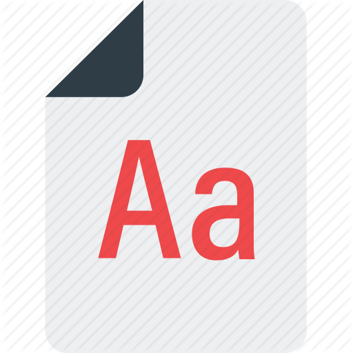 Aa, Audio File, Extension, Multimedia Icon Icon