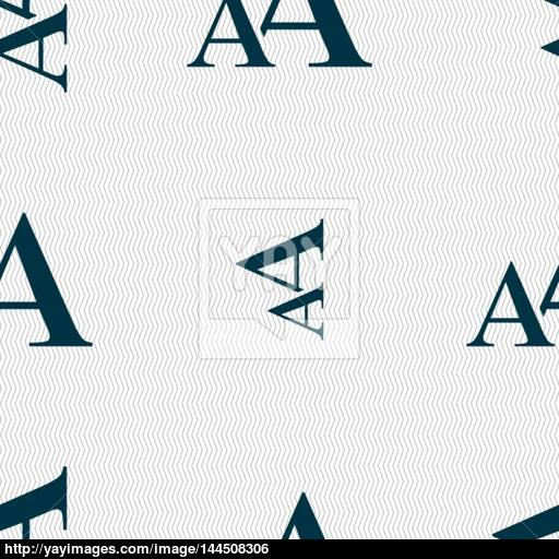 Enlarge Font, Aa Icon Sign Seamless Abstract Background