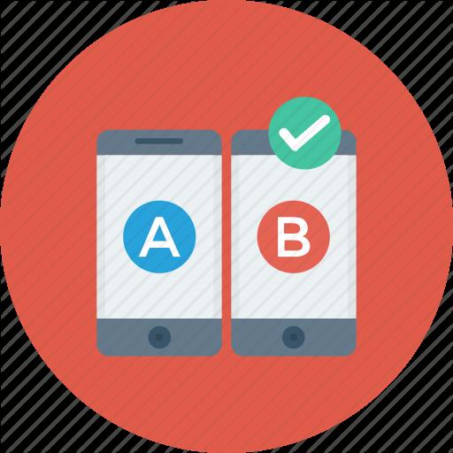 Ab, Comparison, Mobile, Test, Testing, Usability, Web Icon Icon