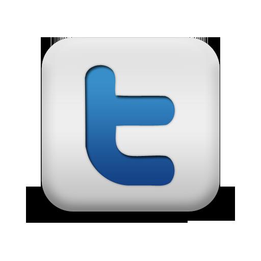 Matte Blue And White Square Icon Social Media Logos