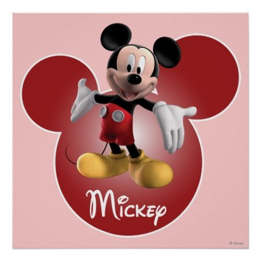 Mickey Mickey Clubhouse Head Icon Poster Mickey Mouse Is