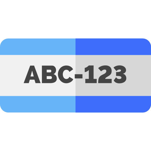 License Plate Number Png Icon