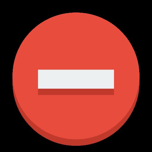 Sign Delete Icon Small Flat Iconset Paomedia