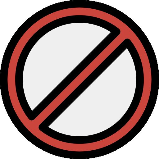 Prohibition, Danger, Reject, Sign, Blocked, Terminate, Error