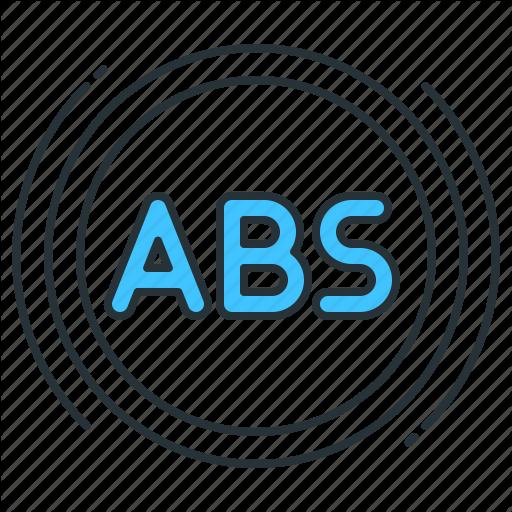 Abs, Abs Light, Abs Warning Light, Anti Lock Brakes, Light Icon