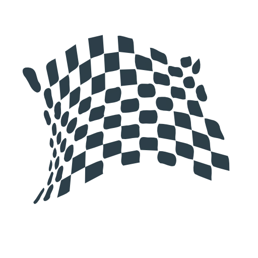Chequered Flag Abstract Icon Clipart