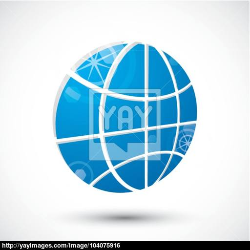 Earth Planet Icon Abstract Icon, Vector Symbol Vector