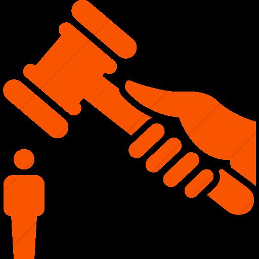 Simple Orange Iconathon Abuse Of Power Icon