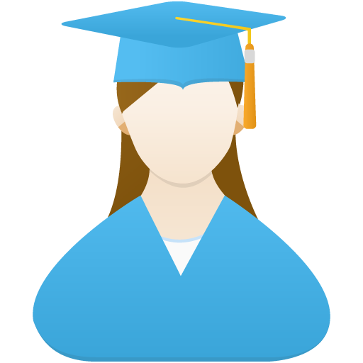 Graduate Female Icon Flatastic Iconset Custom Icon Design