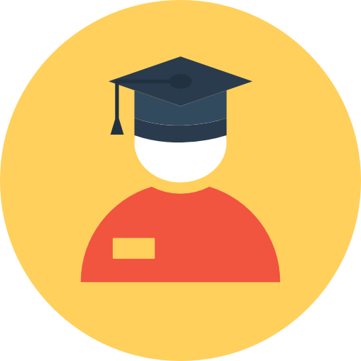 Graduate Icon Education Vectors Market