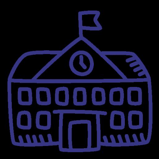 School, College, Academy, Schoolhouse Icon