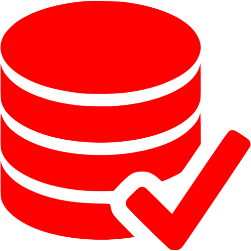 Red Accept Database Icon