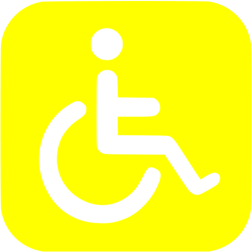 Yellow Accessibility Icon