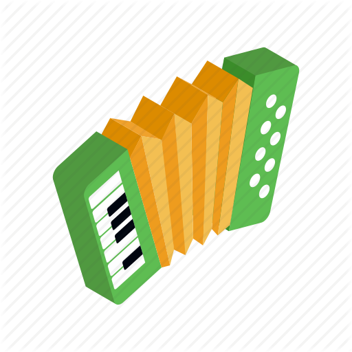 Accordion, Green, Instrument, Isometric, Music, Musical, Old Icon