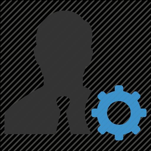 Account, Businessman, Gear, Manage, Person, Profile, Support Icon