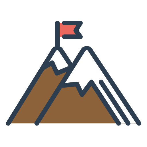 Flag, Achieve, Goal, Peak, Mountains, Trip, Resolutions Icon