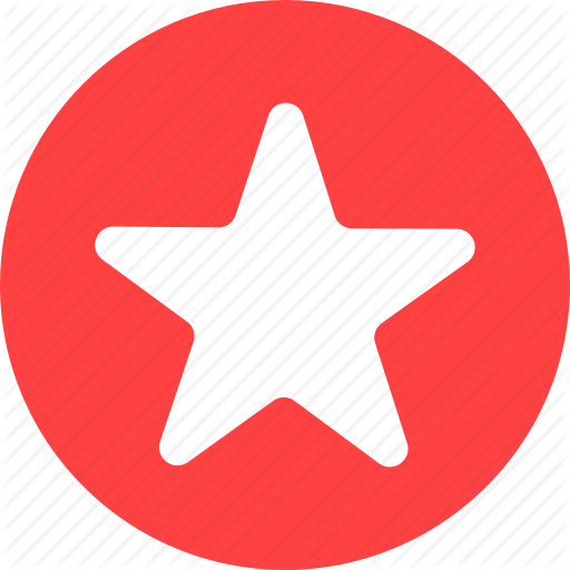 Achievement, Bookmark, Circle, Favorite, Ranking, Red Icon