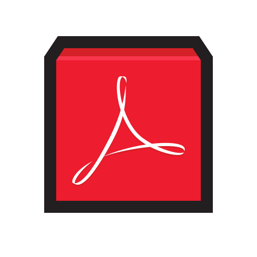 Adobe Actobat Reader Icon Flat Strokes App Iconset Hopstarter