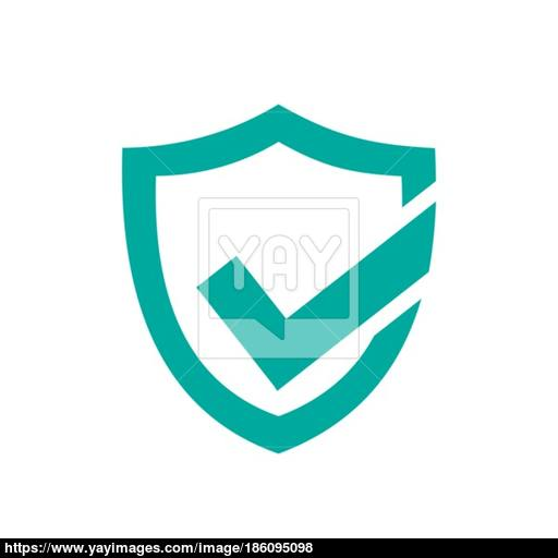 Green Active Protection Shield Icon On A White Background Vector