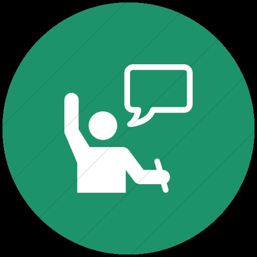 Flat Circle White On Aqua Iconathon Active Learning Icon