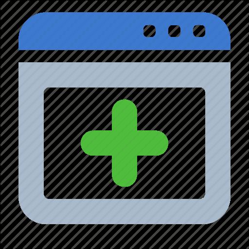 Add, App, Browser, New, Web, Window Icon
