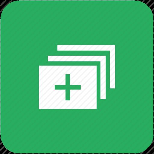Add, App, Create, Green, Image, Tile, Window Icon