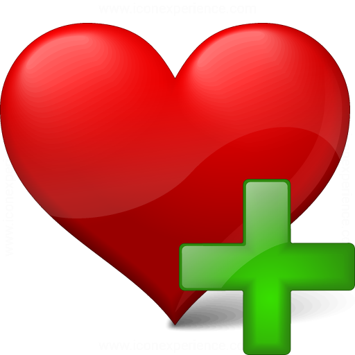 Iconexperience V Collection Heart Add Icon