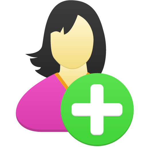 Female User Add Icon Free Download As Png And Formats