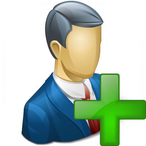 Iconexperience V Collection Businessman Add Icon