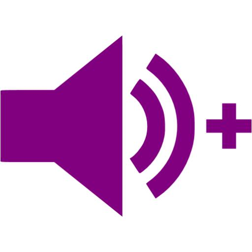 Purple Audio Add Icon