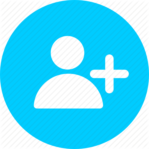 Add, Blue, Circle, Collaborator, Person, Profile, User Icon