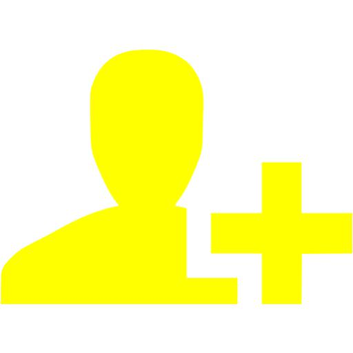 Yellow Add User Icon
