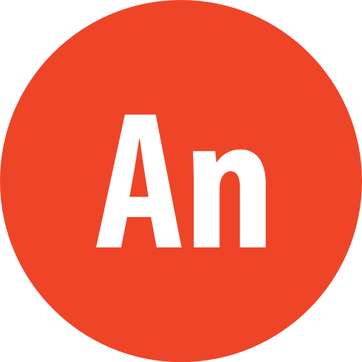 Adobe, Animate, Round Icon