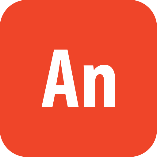 Adobe, Animate, Rounded Icon