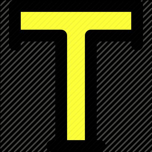 Adobe Illustrator, Font, Illustrator, T, Text, Tool, Type Icon