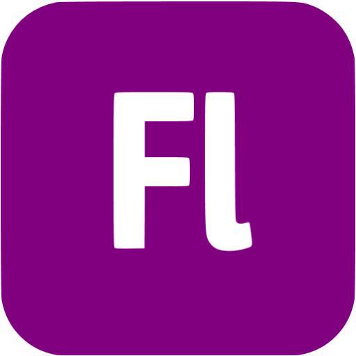 Purple Adobe Fl Icon