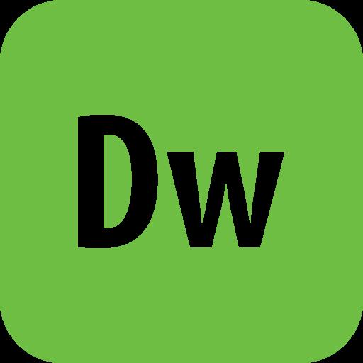 Adobe, Dreamweaver, Rounded Icon