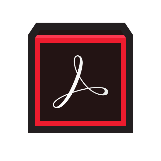 Adobe Actobat Pro Dc Icon Flat Strokes App Iconset Hopstarter