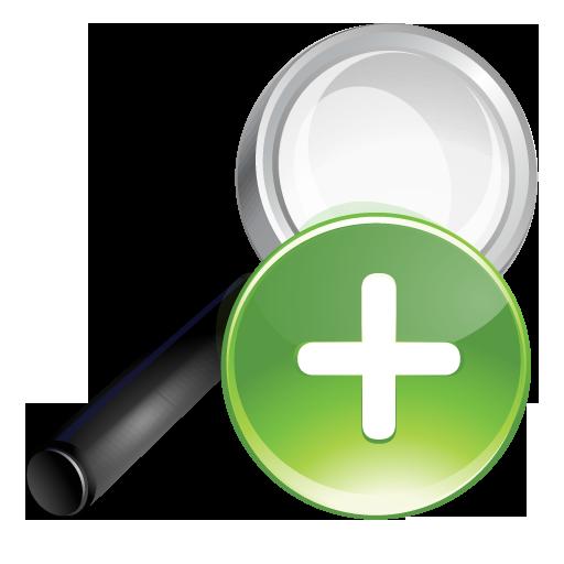 Green, Plus, Search Icon
