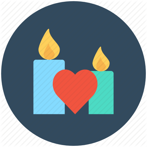 Advent Candle, Candle, Candle Burning, Decoration, Heart Icon