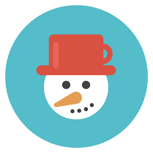 Snowman Icon Flat Christmas Circle Iconset Fps