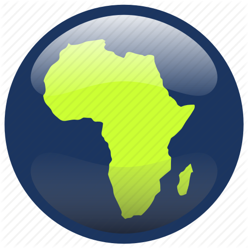 Africa, Continent, Map Icon