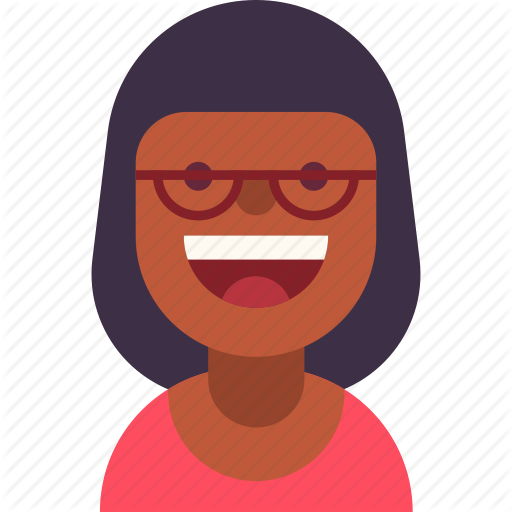 African, American, Avatar, Business, Glasses, Smile, Woman Icon